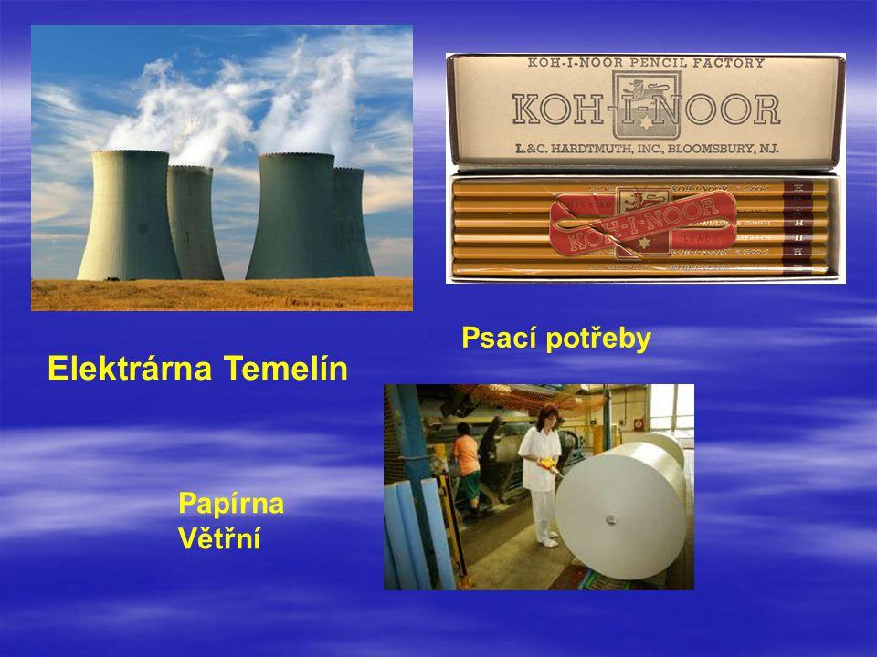Elektrárna Temelín Psací potřeby Papírna Větřní