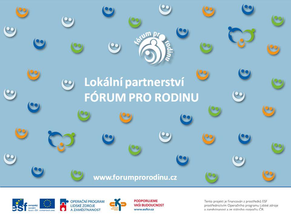 Lokální partnerství FÓRUM PRO RODINU www.forumprorodinu.cz