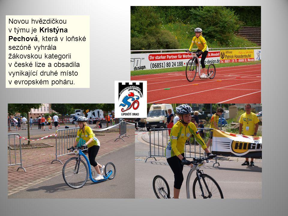 Novou hvězdičkou v týmu je Kristýna Pechová, která v loňské sezóně vyhrála žákovskou kategorii v české lize a obsadila vynikající druhé místo v evrops