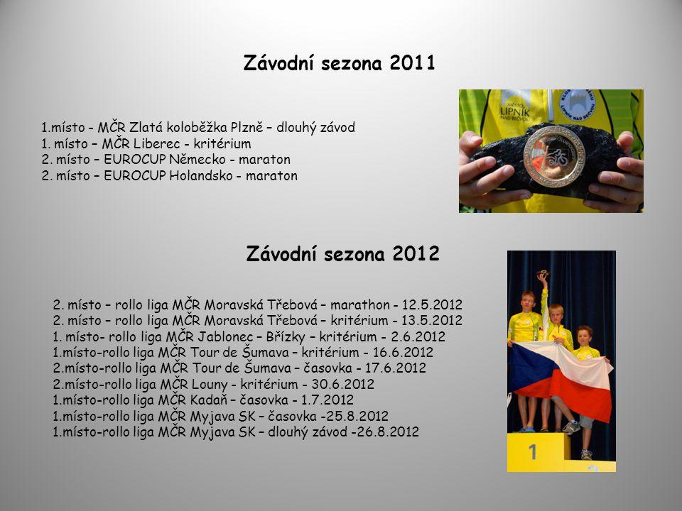 Závodní sezona 2011 1.místo - MČR Zlatá koloběžka Plzně – dlouhý závod 1. místo – MČR Liberec - kritérium 2. místo – EUROCUP Německo - maraton 2. míst