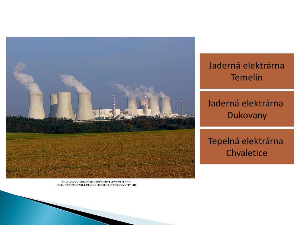 Jaderná elektrárna Temelín Tepelná elektrárna Chvaletice Jaderná elektrárna Dukovany [cit. 2012-02-14]. Dostupný pod licencí Creative Commons na www:.