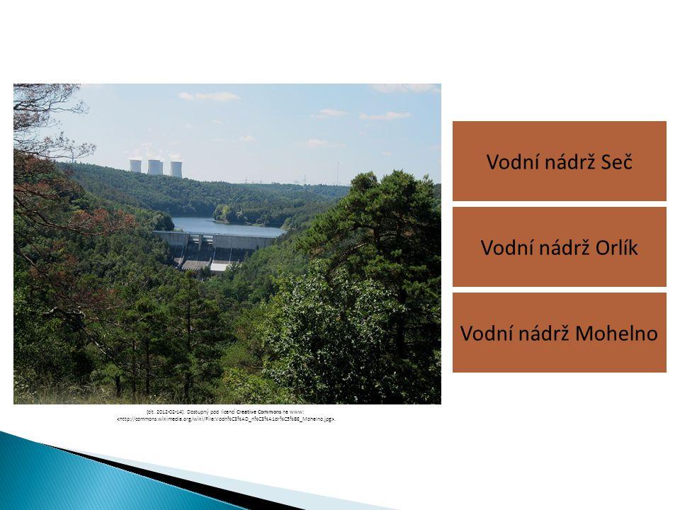 Vodní nádrž Seč Vodní nádrž Mohelno Vodní nádrž Orlík [cit. 2012-02-14]. Dostupný pod licencí Creative Commons na www:.