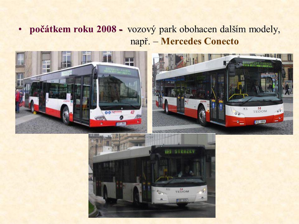 - •počátkem roku 2008 - vozový park obohacen dalším modely, např. – Mercedes Conecto