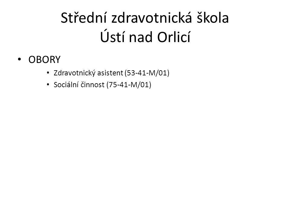 • OBORY • Zdravotnický asistent (53-41-M/01) • Sociální činnost (75-41-M/01)