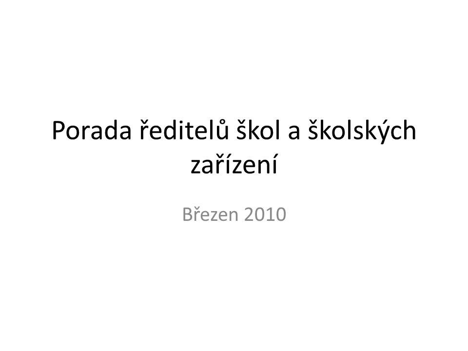 Informace z nových právních předpisů v oblasti školství • Příprava novely zákona č.