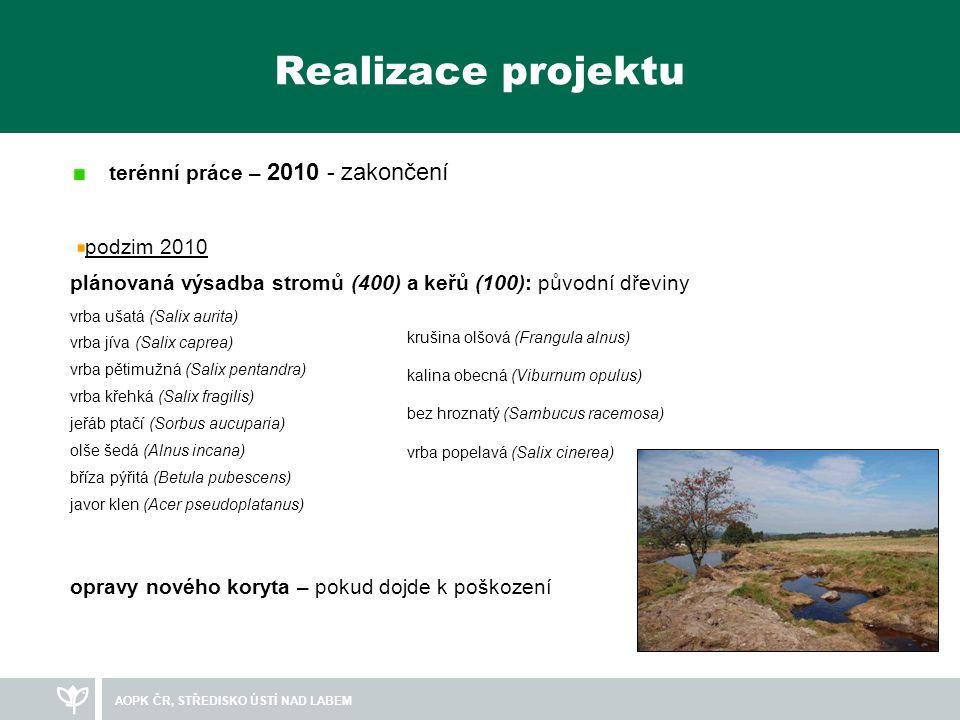 AOPK ČR, STŘEDISKO ÚSTÍ NAD LABEM Informace Výše příspěvku z EU činí 6.