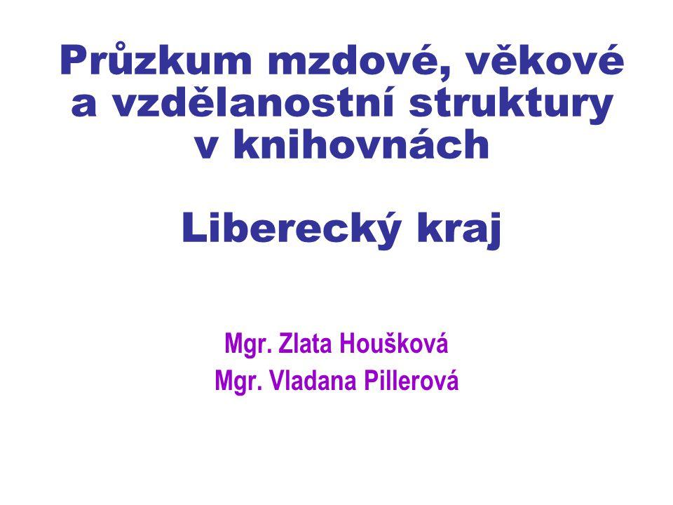 Průzkum mzdové, věkové a vzdělanostní struktury v knihovnách Liberecký kraj Mgr.