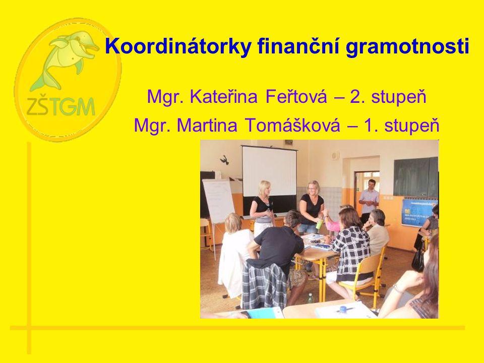Koordinátorky finanční gramotnosti Mgr. Kateřina Feřtová – 2.