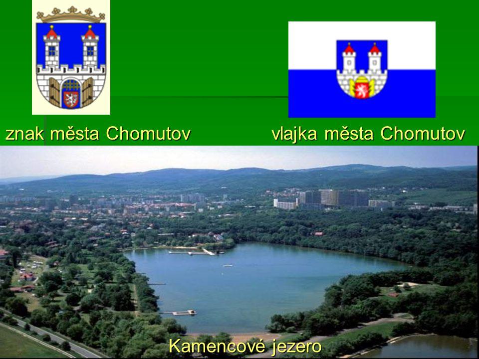 vlajka města Chomutov znak města Chomutov Kamencové jezero