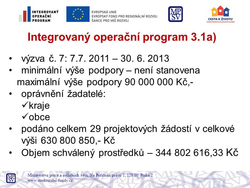 Ministerstvo práce a sociálních věcí, Na Poříčním právu 1, 128 00 Praha 2 www.strukturalni-fondy.cz •výzva č.