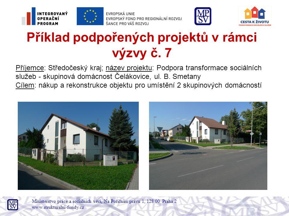 Ministerstvo práce a sociálních věcí, Na Poříčním právu 1, 128 00 Praha 2 www.strukturalni-fondy.cz Příklad podpořených projektů v rámci výzvy č.