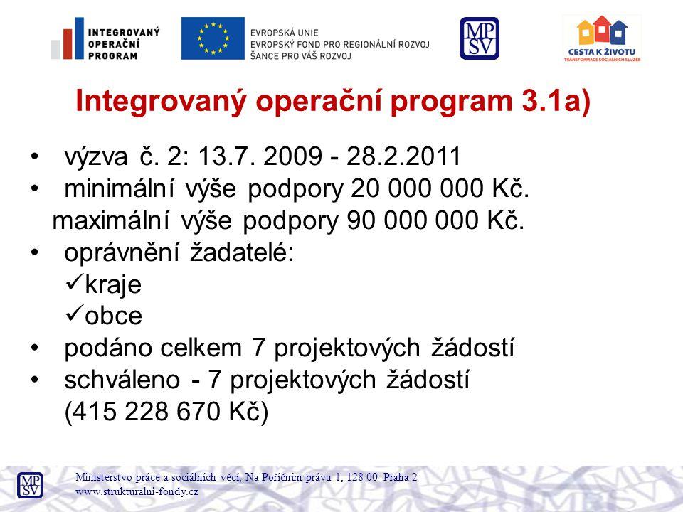 Ministerstvo práce a sociálních věcí, Na Poříčním právu 1, 128 00 Praha 2 www.strukturalni-fondy.cz Odbor programového financování: •Ing.