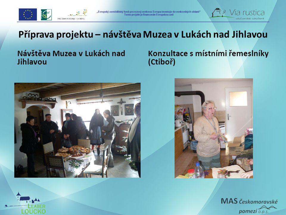 Příprava projektu – návštěva Muzea v Lukách nad Jihlavou Návštěva Muzea v Lukách nad Jihlavou Konzultace s místními řemeslníky (Ctiboř)