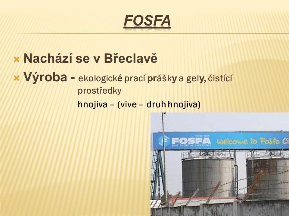  Nachází se v Břeclavě  Výroba - ekologick é prací pr ášk y a gel y, čistící prostředky hnojiva – (vive – druh hnojiva)