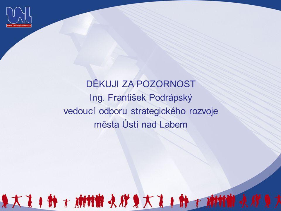 DĚKUJI ZA POZORNOST Ing. František Podrápský vedoucí odboru strategického rozvoje města Ústí nad Labem