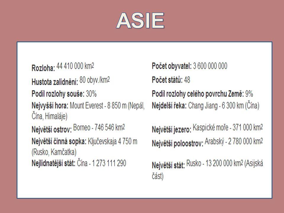 Vodstvo Asie •Oceány: Tichý, Indický, Severní ledový •Moře: např.