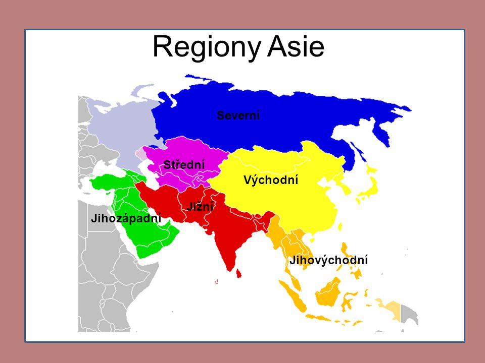 Vodstvo Asie • Severní ledový oceán •Tichý oceán •Indický oceán •Rudé moře •Arabské moře •Žluté moře