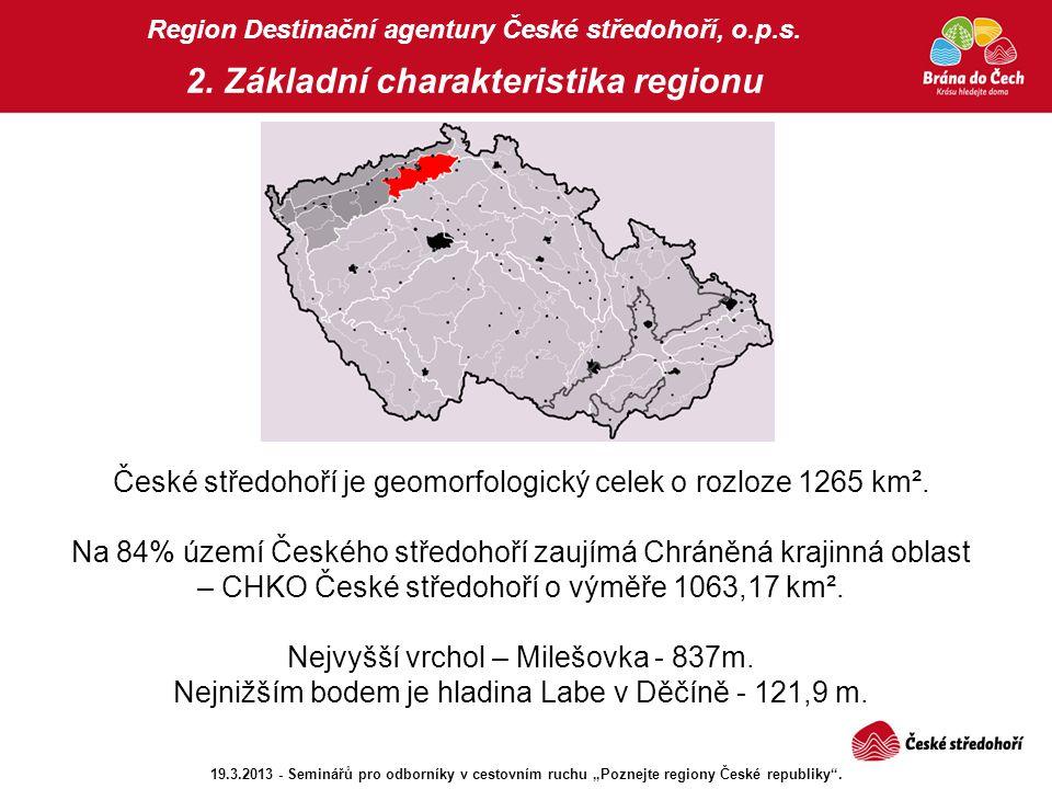 CHKO České středohoří Region Destinační agentury České středohoří, o.p.s.