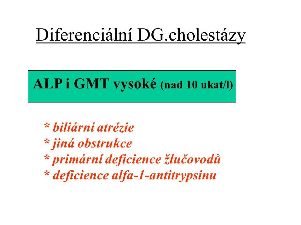CHOLESTÁZA (příčiny u dětí) OBSTRUKČNÍ * atrezie žlučových cest * kongenitální anomálie žlučovodů * cholelitiáza * primární sklerozujiící cholangitis