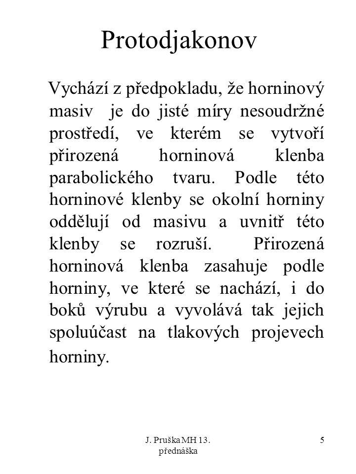 J.Pruška MH 13. přednáška 6 Parabolický tvar klenby odvodil M.M.