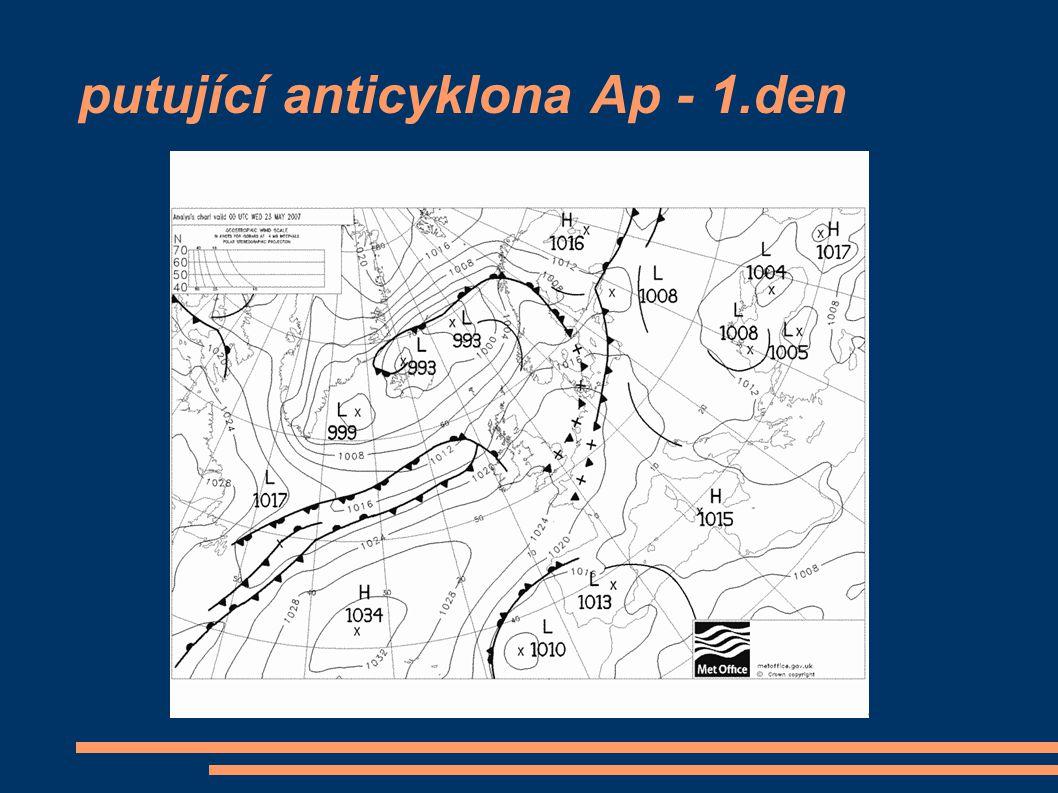 putující anticyklona Ap - 1.den
