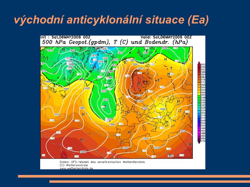 západní anticyklonální situace letního typu (Wal)