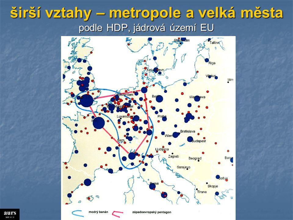 nejbohatší města střední Evropy  B HDP na obyvatele (v přepočtu kupní síly)  nad 100 tis.