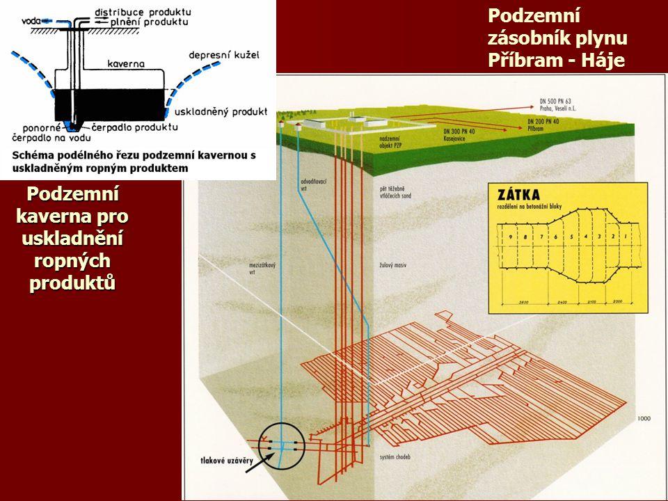 Podzemní kaverna pro uskladnění ropných produktů Podzemní zásobník plynu Příbram - Háje