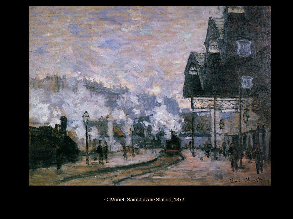 C. Monet, Saint-Lazare Station, 1877