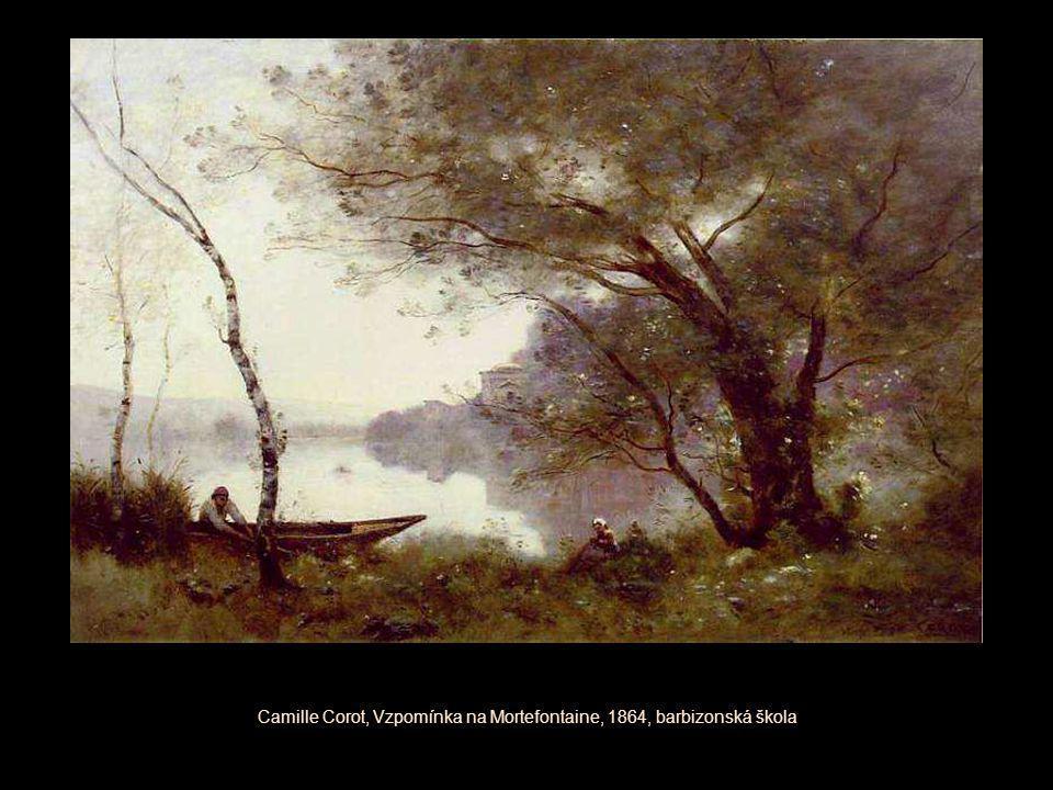Camille Corot, Vzpomínka na Mortefontaine, 1864, barbizonská škola