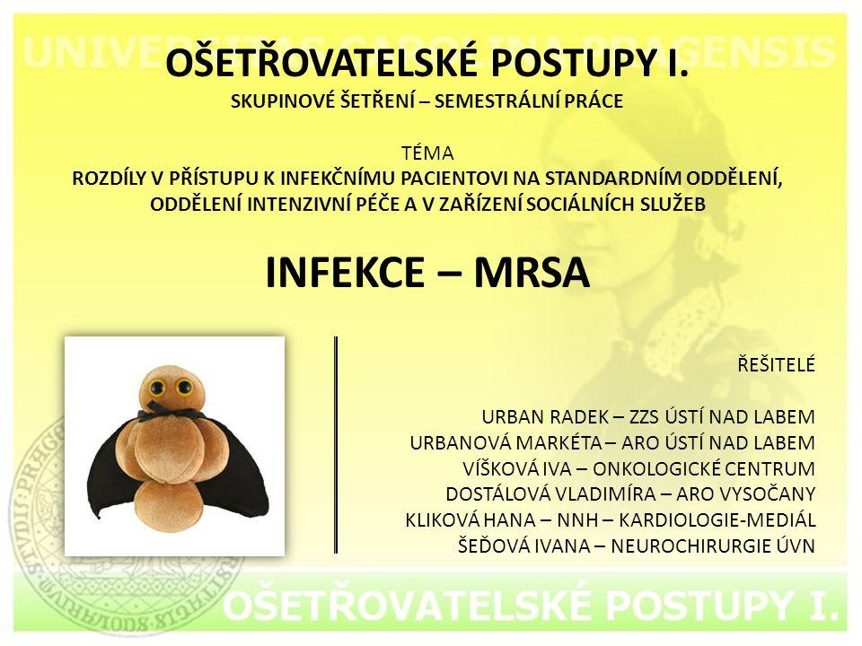 OŠETŘOVATELSKÉ POSTUPY I.