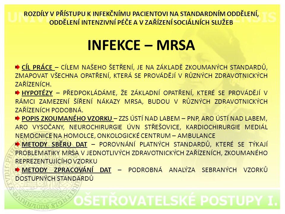 ZDRAVOTNICKÁ DOKUMENTACE S MRSA