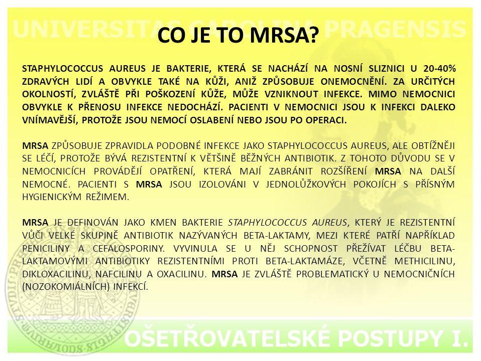 CO JE TO MRSA.