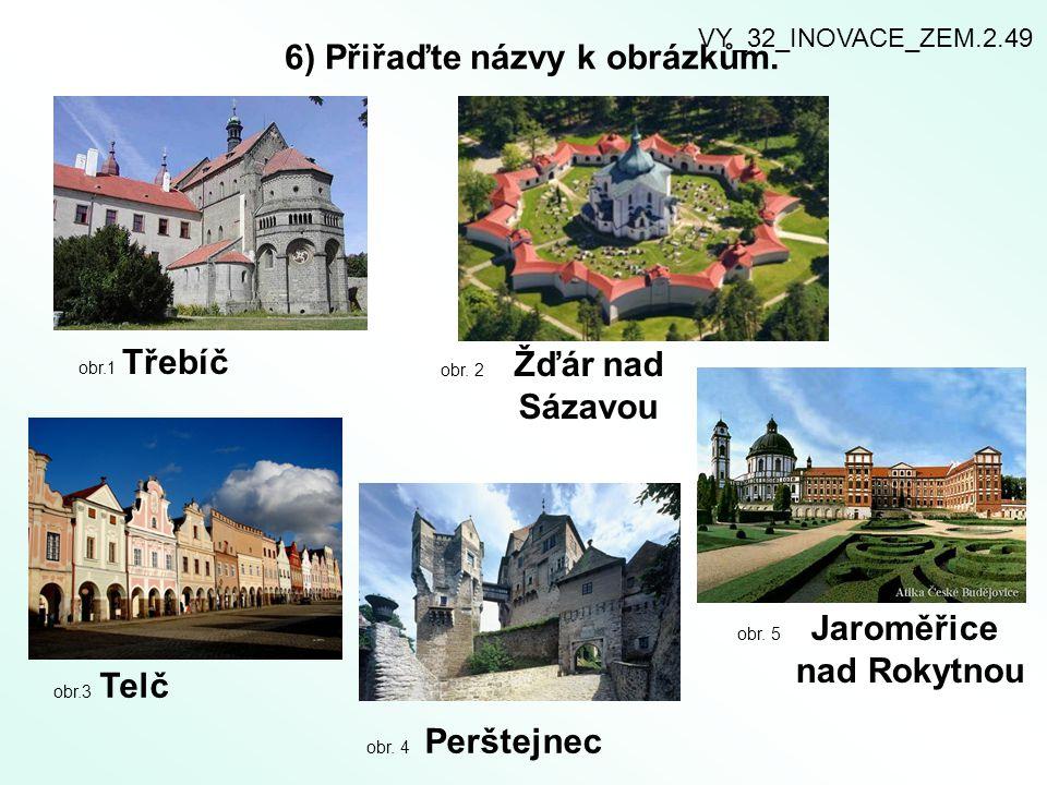 7) Obyvatelstvo a města Kraje Vysočina.Doplňte text.