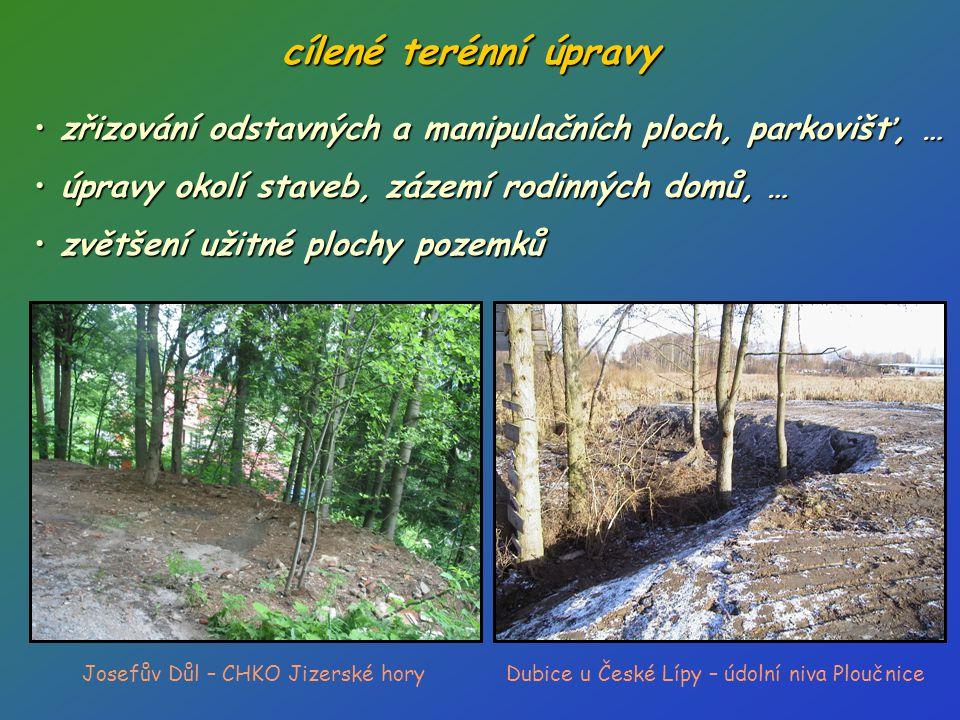 jinak cílené navážky nejčastěji: • odstranění stavebního nebo demoličního odpadu • deponie výkopové zeminy (dočasné i trvalé) Vesec u Liberce