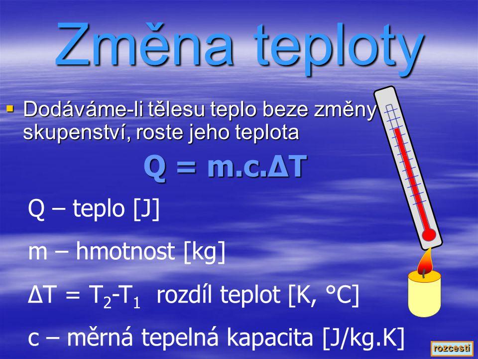 Emisivita - ε Vyjadřuje schopnost povrchu tělesa vyzařovat či pohlcovat teplo Nutno změřit Dokonale černé těleso: ε = 1 Dokonale bílé těleso: ε = 0 Tmavé povrchy: ε  1; tepelné výměníky se vyrábějí nejlépe tmavé (mřížka za ledničkou, tepelné kolektory, …) Světlé povrchy: ε  0; tepelné izolátory se vyrábějí nejlépe světlé či zrcadlové (termoska, lední medvěd, …) rozcestí