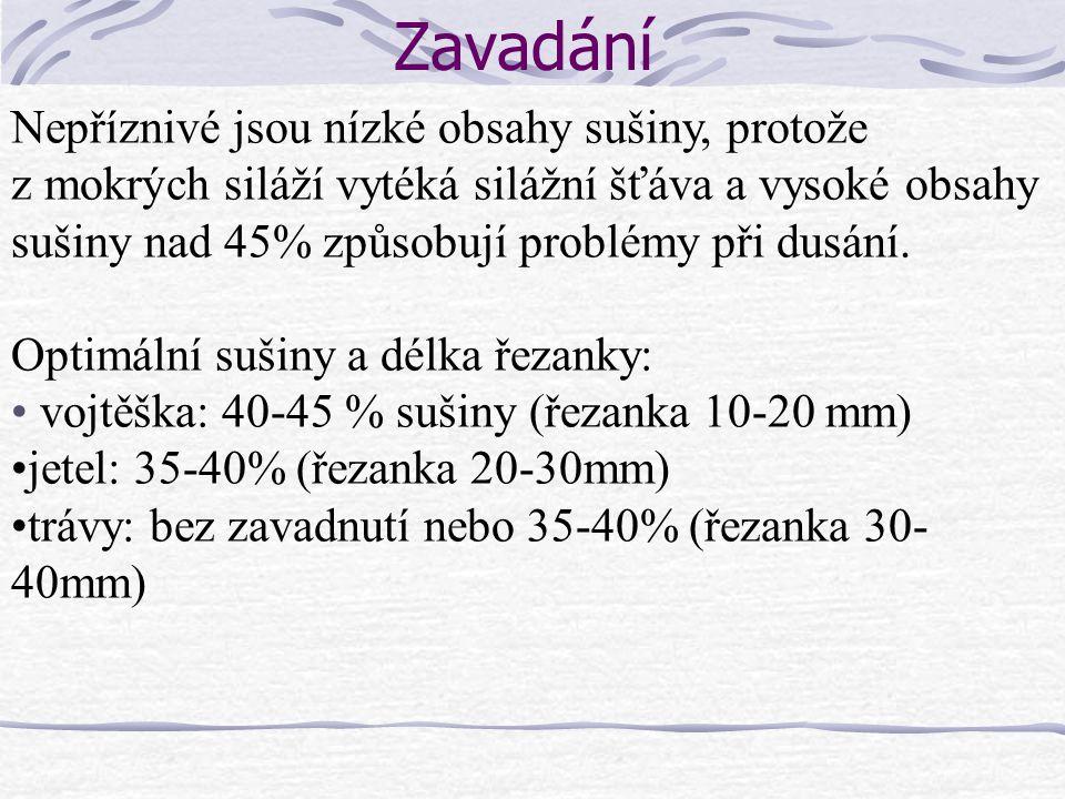 LKS Snadno podléhá druhotné fermentaci Nejlépe silážovat do vaku Nutné dodržet minimální odběr 2 m týdně (lépe až 4m), zejm.