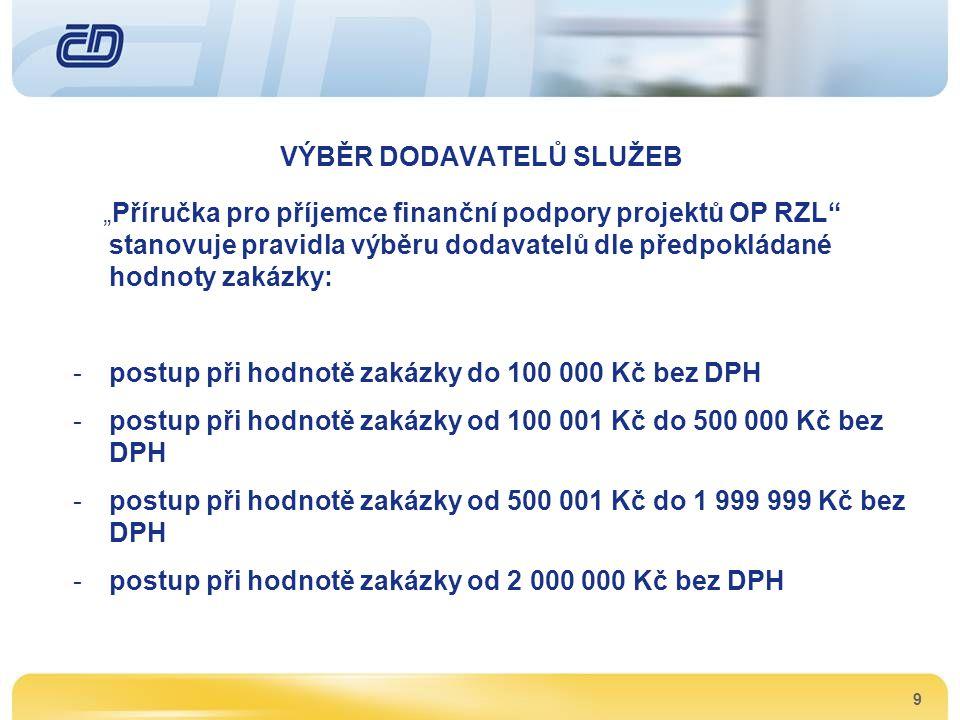 10 DODAVATELÉ SLUŽEB Pro projekt dodávaly služby firmy: -ČD - Telematika, a.