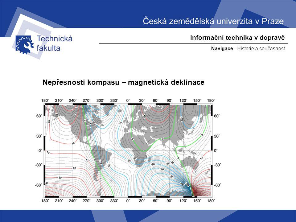 """Navigace - Historie a současnost Informační technika v dopravě Měření zeměpisné šířky, pomocí polárky - polárka je přesně v ose rotace země nad severnim pólem - protože je hvězda """"nekonečně daleko můžeme posunout její paprsek z osy rotace země do místa pozorování"""