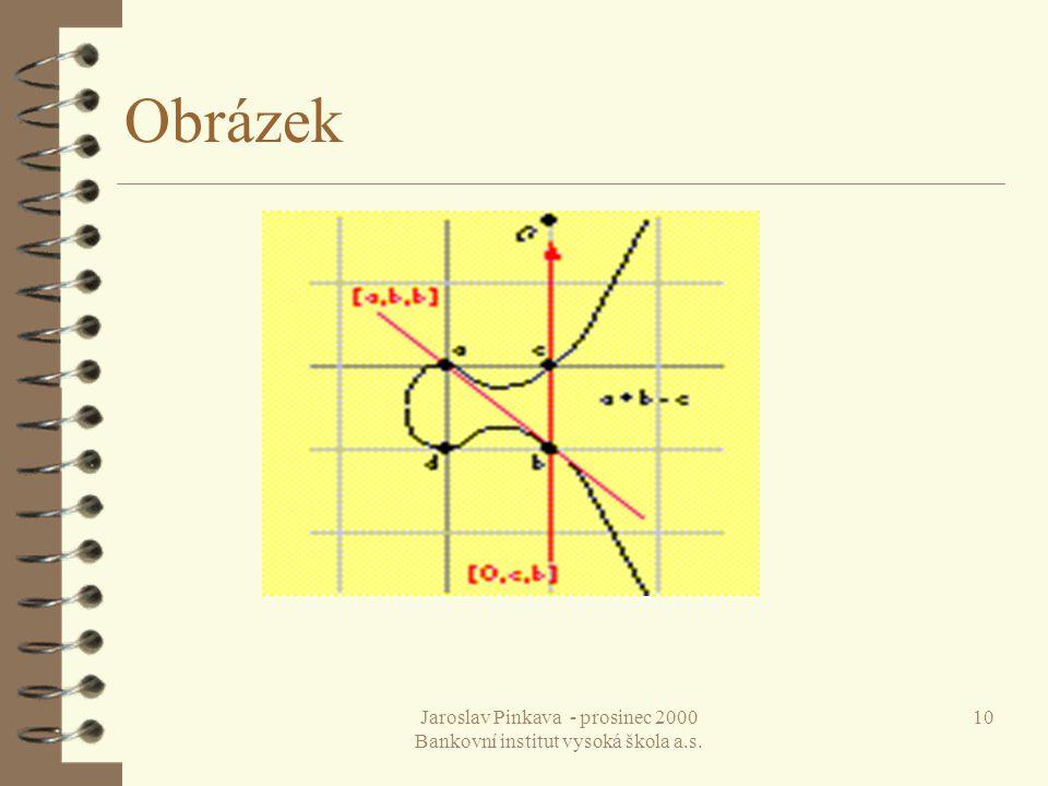 Jaroslav Pinkava - prosinec 2000 Bankovní institut vysoká škola a.s. 10 Obrázek