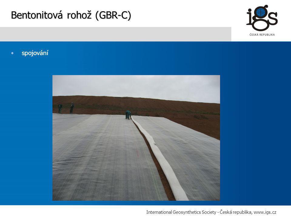 International Geosynthetics Society - Česká republika, www.igs.cz •spojování Bentonitová rohož (GBR-C)