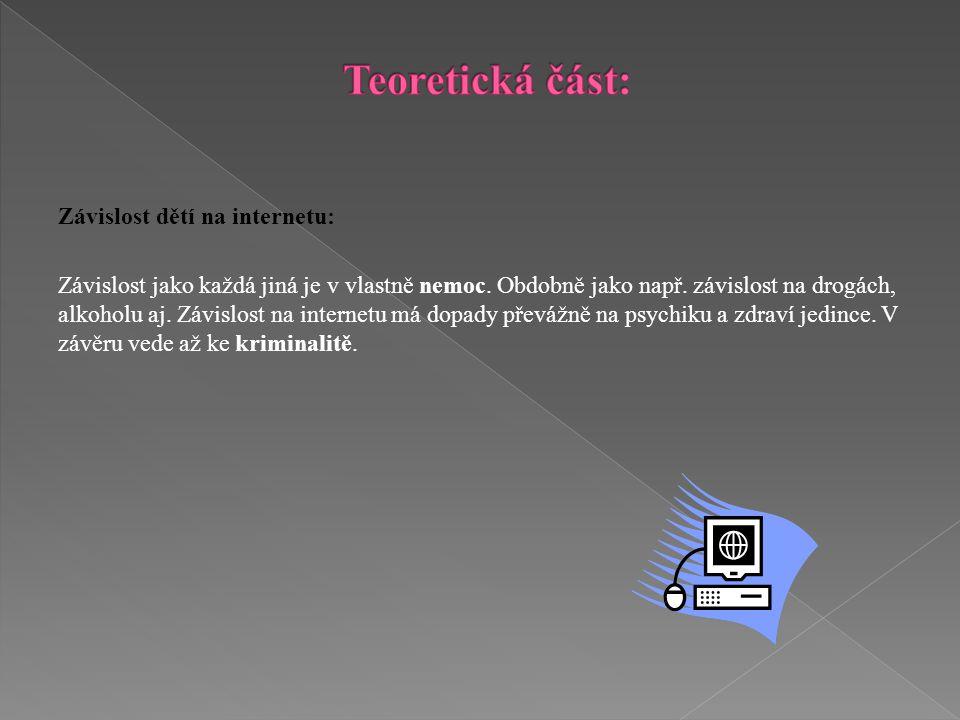Cíl seminární práce:  zjistit informovanost rodičů o zabezpečení Internetu v Libereckém kraji.