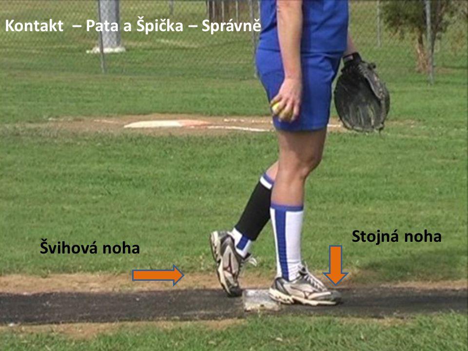 Kontakt – Pata a Špička – Správně Stojná noha Švihová noha