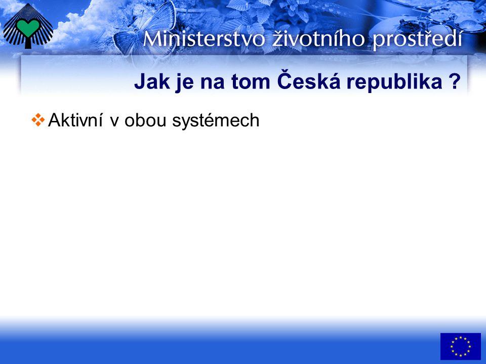 Jak je na tom Česká republika  Aktivní v obou systémech