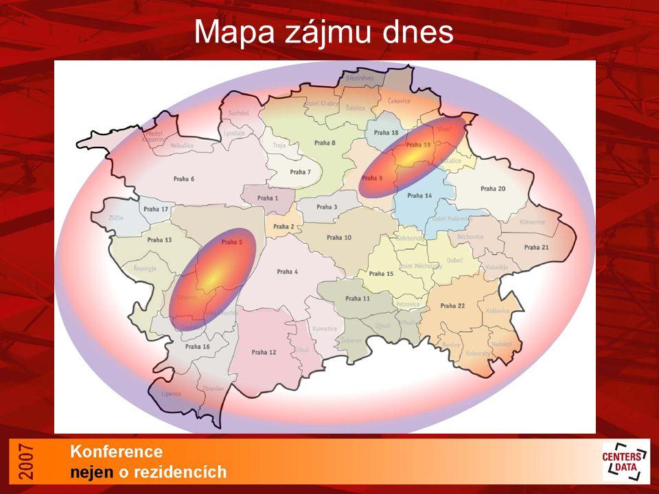 Mapa zájmu dnes