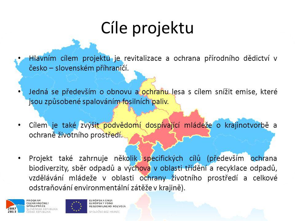 Cíle projektu • Hlavním cílem projektu je revitalizace a ochrana přírodního dědictví v česko – slovenském příhraničí.