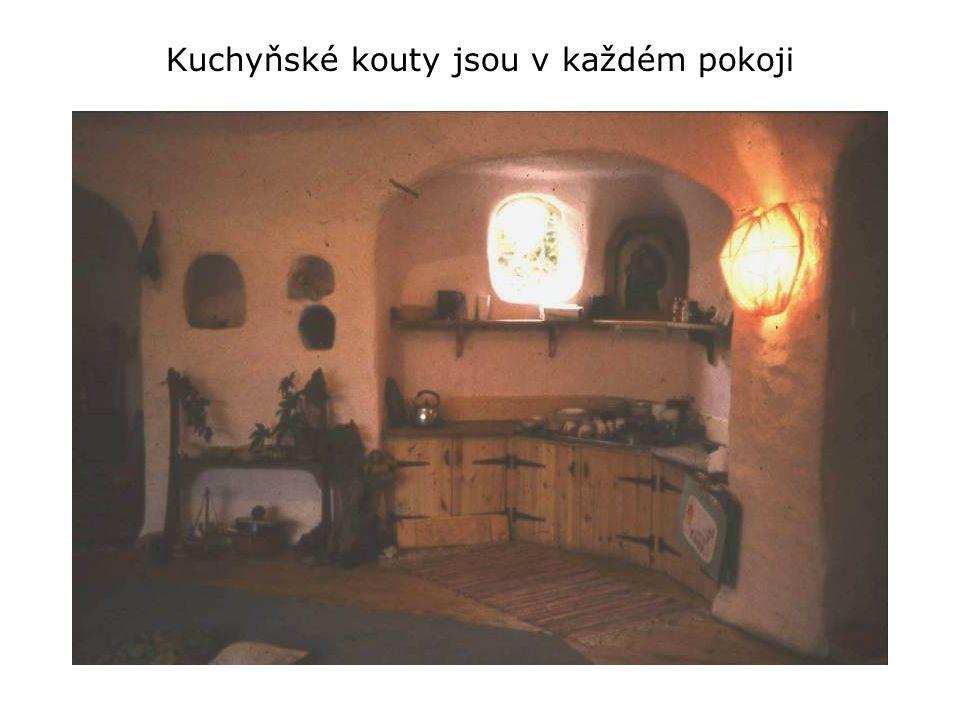 Kuchyňské kouty jsou v každém pokoji