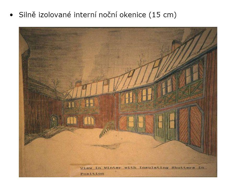 •Silně izolované interní noční okenice (15 cm)