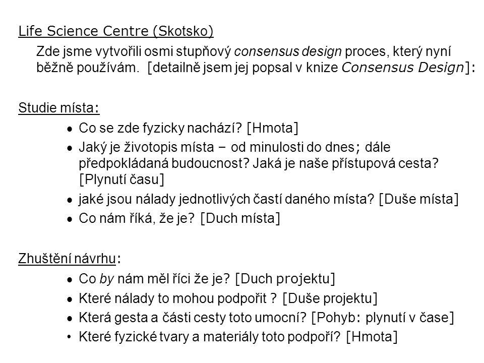 Life Science Centre (S kotsko ) Zde jsme vytvořili osmi stupňový consensus design proces, který nyní běžně používám.