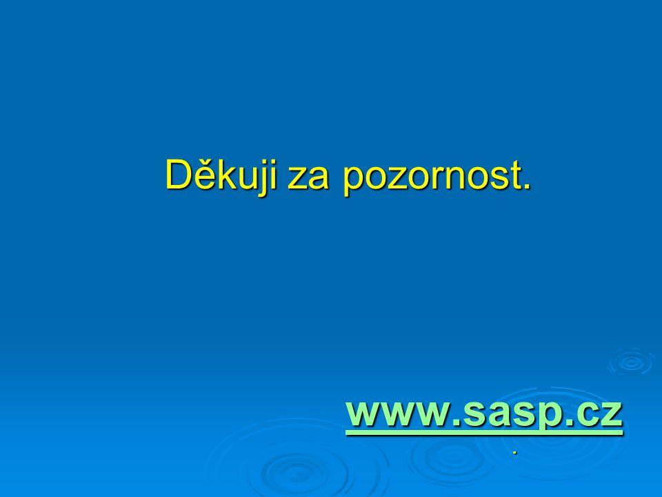 Děkuji za pozornost. Děkuji za pozornost. www.sasp.cz.